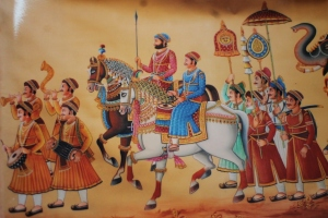 Miniature painting - Royal procession