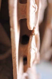 Hollow pieces of terracotta