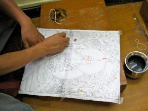 Thangka Sketching